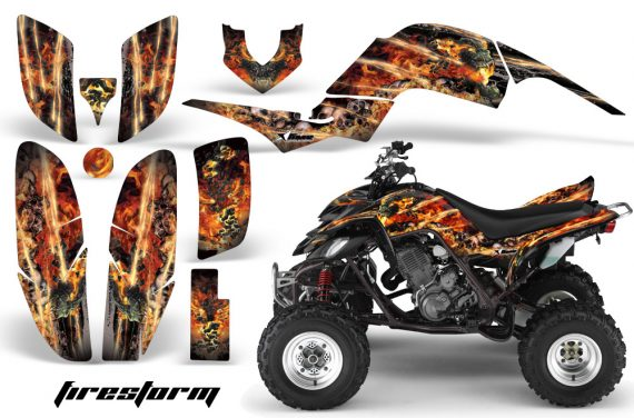 Yamaha Raptor 660 AMR Graphics Firestorm Black 570x376 - Yamaha Raptor 660 Graphics