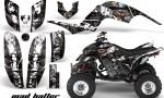 Yamaha Raptor 660 AMR Graphics MadHatter Black Whitestripe 150x90 - Yamaha Raptor 660 Graphics