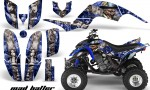 Yamaha Raptor 660 AMR Graphics MadHatter Blue Silverstripe 150x90 - Yamaha Raptor 660 Graphics
