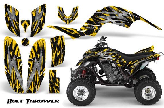 Yamaha Raptor 660 CreatorX Graphics Kit Bolt Thrower Yellow 570x376 - Yamaha Raptor 660 Graphics