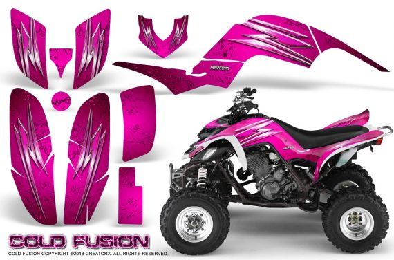 Yamaha Raptor 660 CreatorX Graphics Kit Cold Fusion Pink 570x376 - Yamaha Raptor 660 Graphics