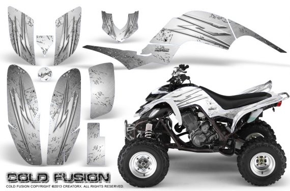 Yamaha Raptor 660 CreatorX Graphics Kit Cold Fusion White 570x376 - Yamaha Raptor 660 Graphics