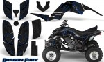 Yamaha Raptor 660 CreatorX Graphics Kit Dragon Fury Blue Black 150x90 - Yamaha Raptor 660 Graphics