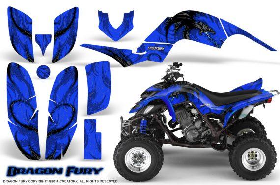 Yamaha Raptor 660 CreatorX Graphics Kit Dragon Fury Blue Blue 570x376 - Yamaha Raptor 660 Graphics