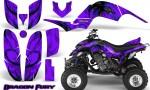 Yamaha Raptor 660 CreatorX Graphics Kit Dragon Fury Blue Purple 150x90 - Yamaha Raptor 660 Graphics