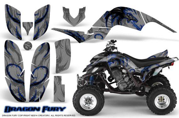 Yamaha Raptor 660 CreatorX Graphics Kit Dragon Fury Blue Silver 570x376 - Yamaha Raptor 660 Graphics