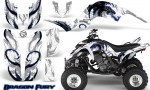 Yamaha Raptor 660 CreatorX Graphics Kit Dragon Fury Blue White 150x90 - Yamaha Raptor 660 Graphics