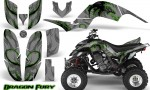 Yamaha Raptor 660 CreatorX Graphics Kit Dragon Fury Green Silver 150x90 - Yamaha Raptor 660 Graphics