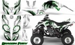 Yamaha Raptor 660 CreatorX Graphics Kit Dragon Fury Green White 150x90 - Yamaha Raptor 660 Graphics