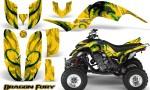Yamaha Raptor 660 CreatorX Graphics Kit Dragon Fury Green Yellow 150x90 - Yamaha Raptor 660 Graphics