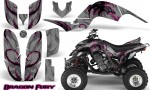 Yamaha Raptor 660 CreatorX Graphics Kit Dragon Fury Pink Silver 150x90 - Yamaha Raptor 660 Graphics