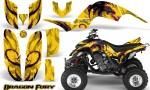 Yamaha Raptor 660 CreatorX Graphics Kit Dragon Fury Pink Yellow 150x90 - Yamaha Raptor 660 Graphics