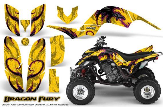 Yamaha Raptor 660 CreatorX Graphics Kit Dragon Fury Pink Yellow 570x376 - Yamaha Raptor 660 Graphics