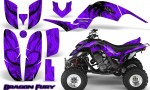 Yamaha Raptor 660 CreatorX Graphics Kit Dragon Fury Purple Purple 150x90 - Yamaha Raptor 660 Graphics