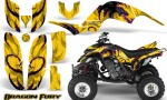 Yamaha Raptor 660 CreatorX Graphics Kit Dragon Fury Purple Yellow 150x90 - Yamaha Raptor 660 Graphics