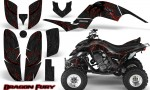 Yamaha Raptor 660 CreatorX Graphics Kit Dragon Fury Red Black 150x90 - Yamaha Raptor 660 Graphics