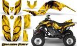 Yamaha Raptor 660 CreatorX Graphics Kit Dragon Fury Red Yellow 150x90 - Yamaha Raptor 660 Graphics