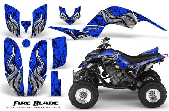 Yamaha Raptor 660 CreatorX Graphics Kit Fire Blade Blue BB 570x376 - Yamaha Raptor 660 Graphics