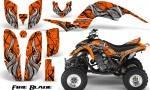 Yamaha Raptor 660 CreatorX Graphics Kit Fire Blade Orange 150x90 - Yamaha Raptor 660 Graphics