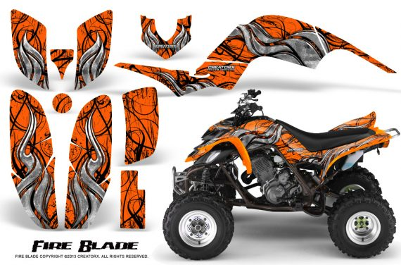 Yamaha Raptor 660 CreatorX Graphics Kit Fire Blade Orange 570x376 - Yamaha Raptor 660 Graphics
