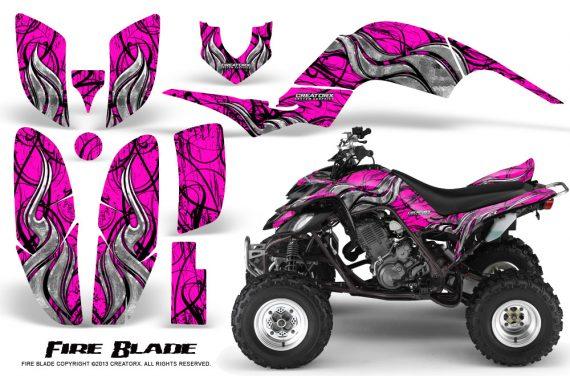 Yamaha Raptor 660 CreatorX Graphics Kit Fire Blade Pink 570x376 - Yamaha Raptor 660 Graphics