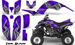 Yamaha Raptor 660 CreatorX Graphics Kit Fire Blade Purple 150x90 - Yamaha Raptor 660 Graphics