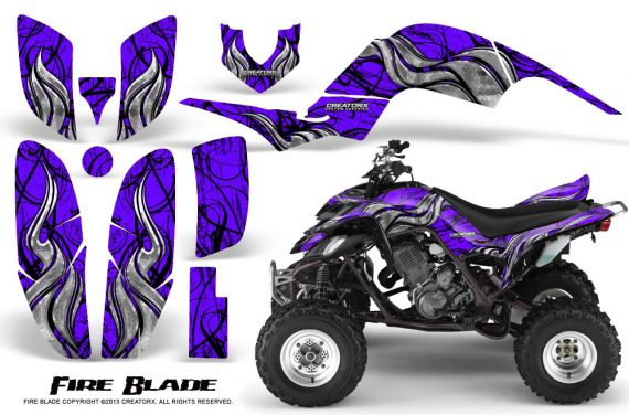 Yamaha Raptor 660 CreatorX Graphics Kit Fire Blade Purple 570x376 - Yamaha Raptor 660 Graphics