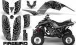 Yamaha Raptor 660 CreatorX Graphics Kit Firebird Black Silver 150x90 - Yamaha Raptor 660 Graphics