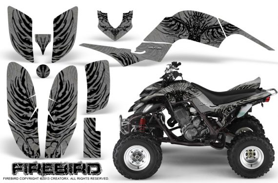 Yamaha Raptor 660 CreatorX Graphics Kit Firebird Black Silver 570x376 - Yamaha Raptor 660 Graphics