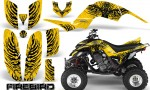 Yamaha Raptor 660 CreatorX Graphics Kit Firebird Black Yellow 150x90 - Yamaha Raptor 660 Graphics