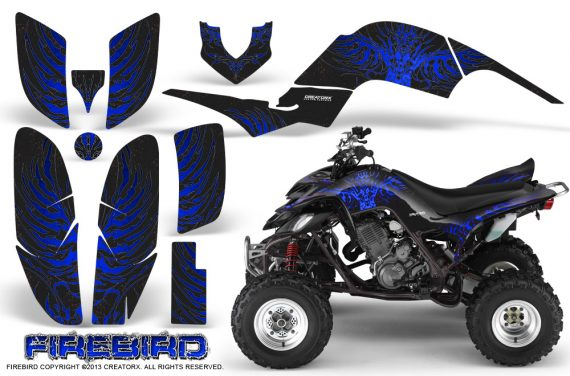 Yamaha Raptor 660 CreatorX Graphics Kit Firebird Blue Black 570x376 - Yamaha Raptor 660 Graphics