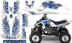 Yamaha Raptor 660 CreatorX Graphics Kit Firebird Blue White 150x90 - Yamaha Raptor 660 Graphics
