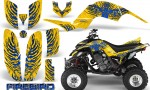Yamaha Raptor 660 CreatorX Graphics Kit Firebird Blue Yellow 150x90 - Yamaha Raptor 660 Graphics
