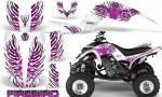 Yamaha Raptor 660 CreatorX Graphics Kit Firebird Pink White 150x90 - Yamaha Raptor 660 Graphics