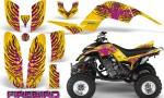 Yamaha Raptor 660 CreatorX Graphics Kit Firebird Pink Yellow 150x90 - Yamaha Raptor 660 Graphics