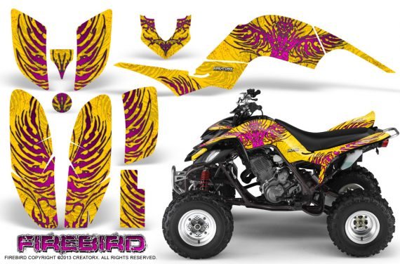 Yamaha Raptor 660 CreatorX Graphics Kit Firebird Pink Yellow 570x376 - Yamaha Raptor 660 Graphics