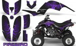 Yamaha Raptor 660 CreatorX Graphics Kit Firebird Purple Black 150x90 - Yamaha Raptor 660 Graphics