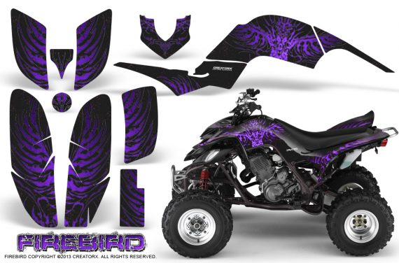 Yamaha Raptor 660 CreatorX Graphics Kit Firebird Purple Black 570x376 - Yamaha Raptor 660 Graphics