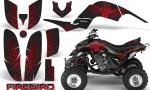 Yamaha Raptor 660 CreatorX Graphics Kit Firebird Red Black 150x90 - Yamaha Raptor 660 Graphics