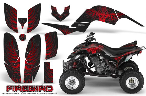 Yamaha Raptor 660 CreatorX Graphics Kit Firebird Red Black 570x376 - Yamaha Raptor 660 Graphics