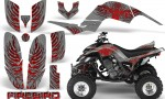 Yamaha Raptor 660 CreatorX Graphics Kit Firebird Red Silver 150x90 - Yamaha Raptor 660 Graphics