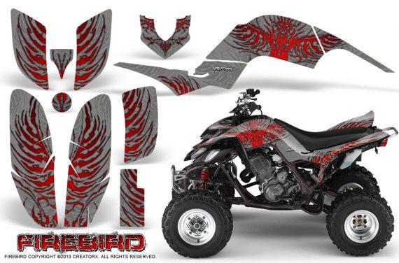 Yamaha Raptor 660 CreatorX Graphics Kit Firebird Red Silver 570x376 - Yamaha Raptor 660 Graphics