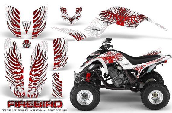 Yamaha Raptor 660 CreatorX Graphics Kit Firebird Red White 570x376 - Yamaha Raptor 660 Graphics
