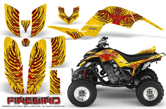 Yamaha Raptor 660 CreatorX Graphics Kit Firebird Red Yellow 570x376 - Yamaha Raptor 660 Graphics