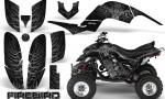 Yamaha Raptor 660 CreatorX Graphics Kit Firebird Silver Black 150x90 - Yamaha Raptor 660 Graphics