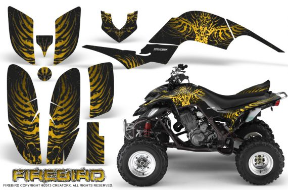 Yamaha Raptor 660 CreatorX Graphics Kit Firebird Yellow Black 570x376 - Yamaha Raptor 660 Graphics