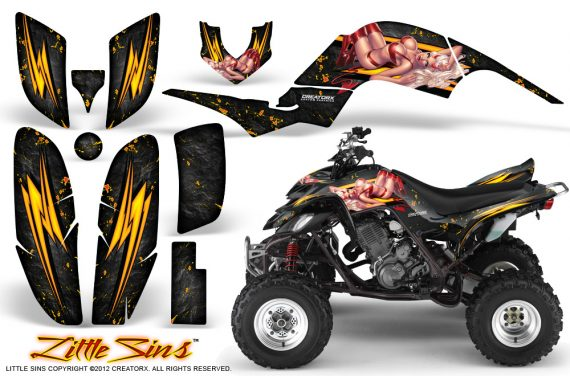 Yamaha Raptor 660 CreatorX Graphics Kit Little Sins Black 570x376 - Yamaha Raptor 660 Graphics