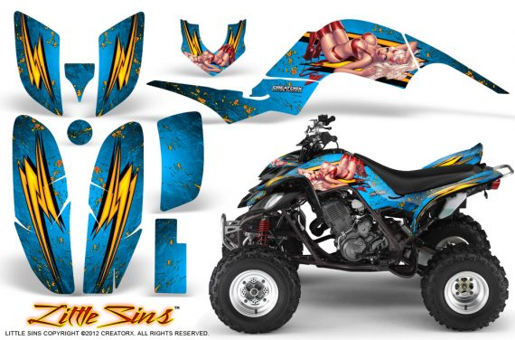 Yamaha Raptor 660 CreatorX Graphics Kit Little Sins BlueIce 570x376 - Yamaha Raptor 660 Graphics