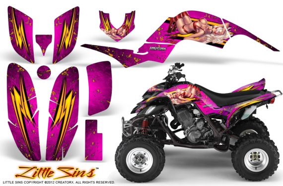 Yamaha Raptor 660 CreatorX Graphics Kit Little Sins Pink 570x376 - Yamaha Raptor 660 Graphics