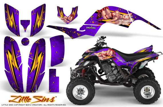 Yamaha Raptor 660 CreatorX Graphics Kit Little Sins Purple 570x376 - Yamaha Raptor 660 Graphics